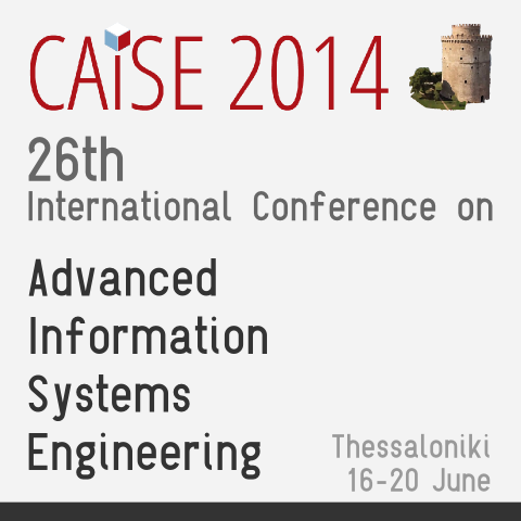 Διεθνές συνέδριο «International Conference on Advanced Information Systems Engineering» – CAiSE 2014
