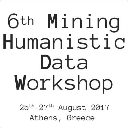"Διεθνές εργαστήριο ""Mining Humanistic Data Workshop"" – MHDW 2017"