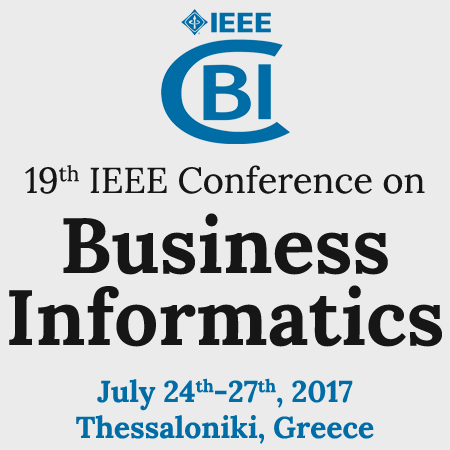 Διεθνές συνέδριο «IEEE Conference on Business Informatics» – CBI 2017