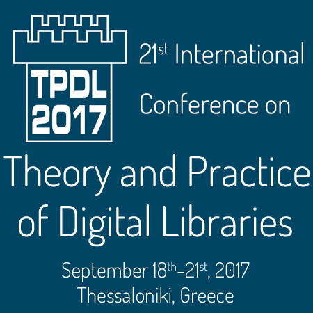 Διεθνές συνέδριο «Theory and Practice of Digital Libraries» – TPDL 2017