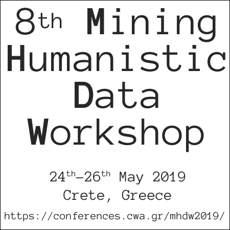"Διεθνές εργαστήριο ""Mining Humanistic Data Workshop"" – MHDW 2019"