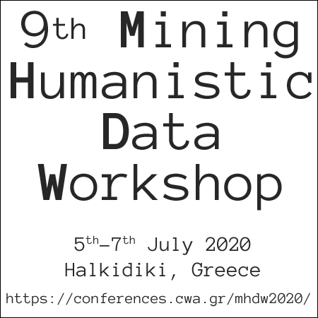 "Διεθνές εργαστήριο ""Mining Humanistic Data Workshop"" – MHDW 2020"